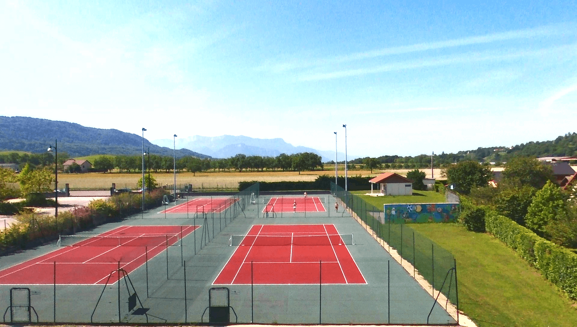 photo aérienne TENNIS CLUB CROSSEY