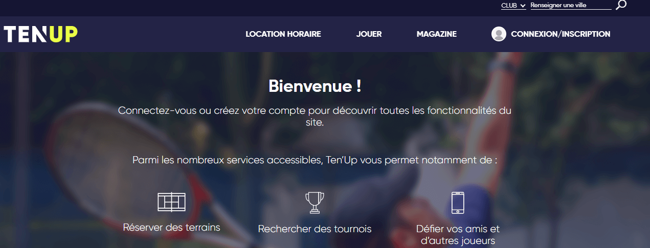 image du site TEN'UP