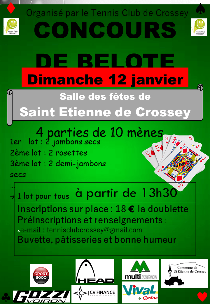 Belote du TC CROSSEY 2020